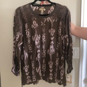 Brown and pink long sleeve